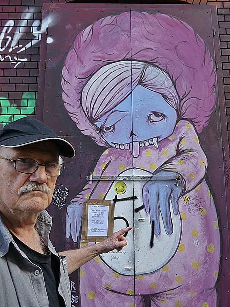 Pedro Meier SelfieArt – Pink-Monster Graffiti – Rote Fabrik Kulturzentrum Shedhalle – Restaurant Ziegel oh Lac Zürich – 2015 © Pedro Meier Multimedia Artist MoMA Visual Art Museum Bangkok – FLUXUS – DADA – SIKART Zürich – Gerhard Meier Weg Niederbipp Bern