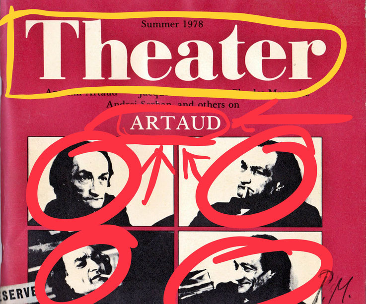 Pedro Meier – Antonin Artaud, Das Theater und sein Double – Paraphrase – Art Work by © Pedro Meier Swiss-German Multimedia Artist Visual Art Museum MoMA – FLUXUS – DADA – DigitalArt – ComputerArt – MailArt – Artists' Books – SelfieArt – SIKART Zürich