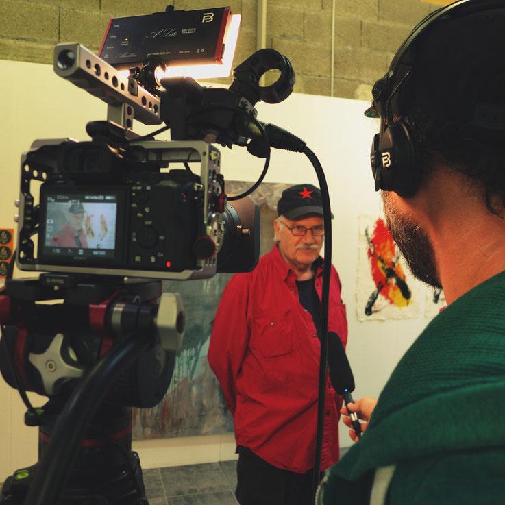 Pedro Meier ART-TV Kulturfernsehen – Daniel Bossart Kamera – Ausstellung »Work in Progress« 2017 – Stiftung Eggenschwiler – Eriswil – Pedro Meier Multimedia Artist Gerhard Meier Weg Niederbipp – Olten – Bangkok Kunstmuseum SIKART Zürich Museum MoMA usa