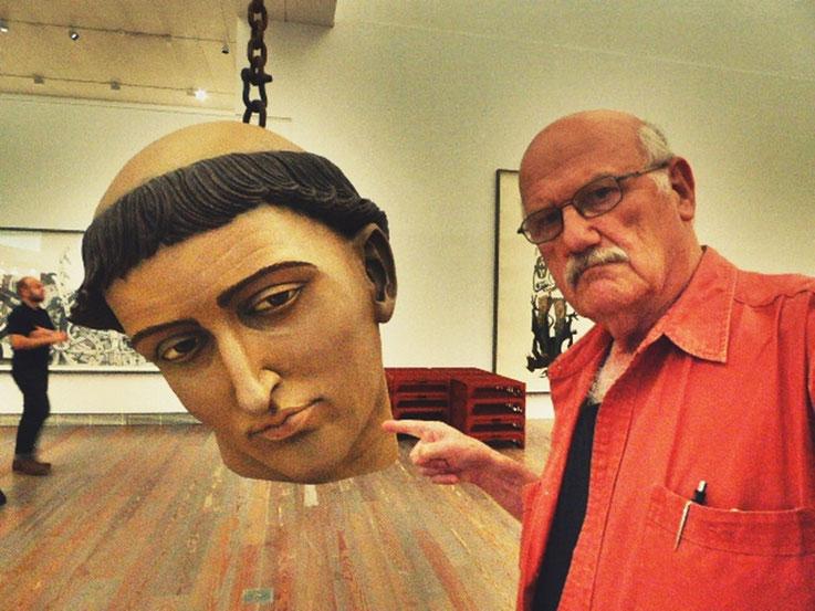Pedro Meier PhotoArt – trifft auf Kopf des Heiligen Stephan – Museum Tinguely Basel Switzerland – »Selfie-Art-Project« – Photo 2016 © Pedro Meier Multimedia Artist / ProLitteris – Niederbipp – Bangkok