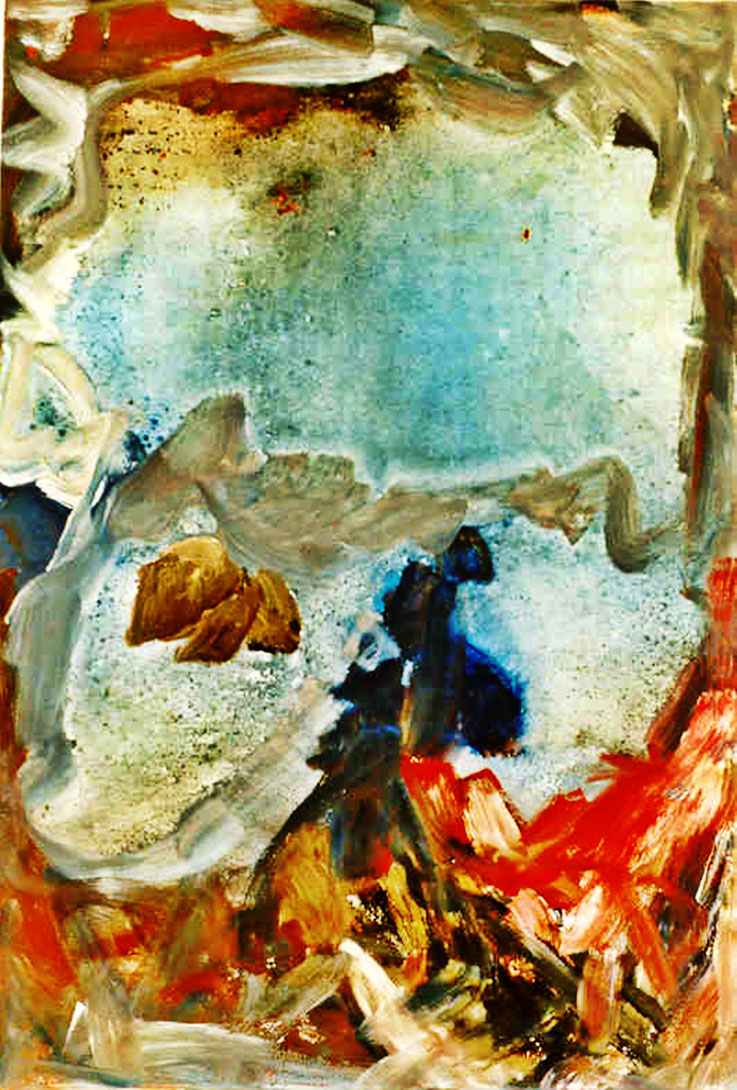 Pedro Meier – »Insel Rügen Nr. 1« – Öl Lack auf Leinwand, 200 x150 cm 1995 – Gruppenausstellung »Art Vent« (plus 2 »Schnür-Skulpturen) 2017 Franz Eggenschwiler Stiftung – Pedro Meier Multimedia Artist Gerhard Meier Weg Atelier: Niederbipp, Olten, Bangkok