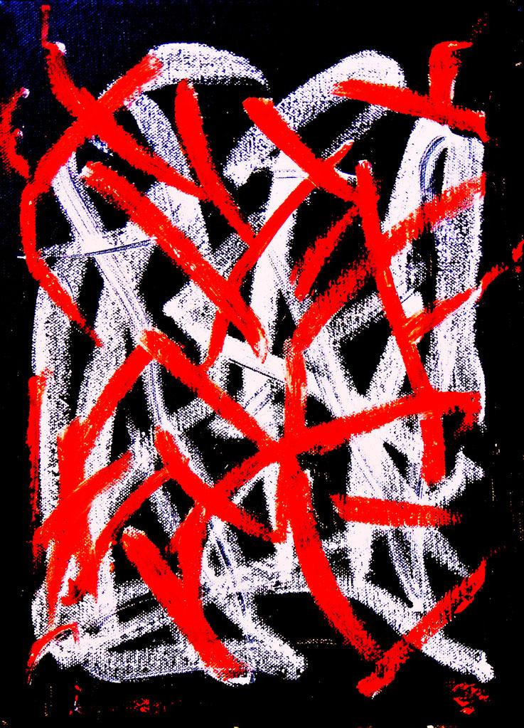 Pedro Meier – Neue Arbeiten Nr. 4 von 4 – Öl auf Leinwand – 60x48 cm – 2017 – in Shedhalle Fabrik-Atelier der ehemaligen BERNA Lastwagenfabrik Olten – Photo © Pedro Meier Multimedia Artist / ProLitteris – Gerhard Meier Weg – Niederbipp – Olten – Bangkok