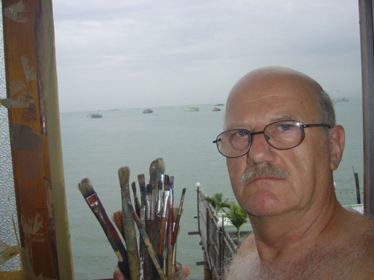 Pedro Meier SelfieArt – Studio Gulf of Thailand, formerly the Gulf of Siam, South China Sea – 2004 © Pedro Meier Multimedia Artist MoMA Visual Art Museum  Bangkok – FLUXUS DADA – SIKART Zürich. Atelier: Niederbipp Bern bei Solothurn Oberaargau Switzerland