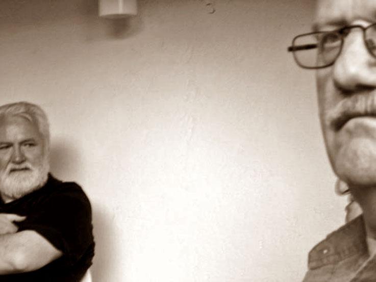 Pedro Meier – Werner Morlang im Gartenhaus in Niederbipp alias Amrain – 88. Geburtstag von Gerhard Meier 2005 – Photo © Pedro Meier Multimedia Artist / ProLitteris – »Selfie-Art-Project-Pedro-Meier« Olten Bangkok Literaturarchiv Suhrkamp Zytglogge VISARTE