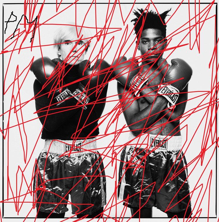 Pedro Meier – »Andy Warhol / Jean-Michel Basquiat übermalt« – Paraphrasen – Portrait Nr. 14 – 2017 – Acryl über Foto-Papier – Photo © Pedro Meier Multimedia Artist / ProLitteris – Gerhard Meier Weg – Niederbipp – Olten – Bangkok