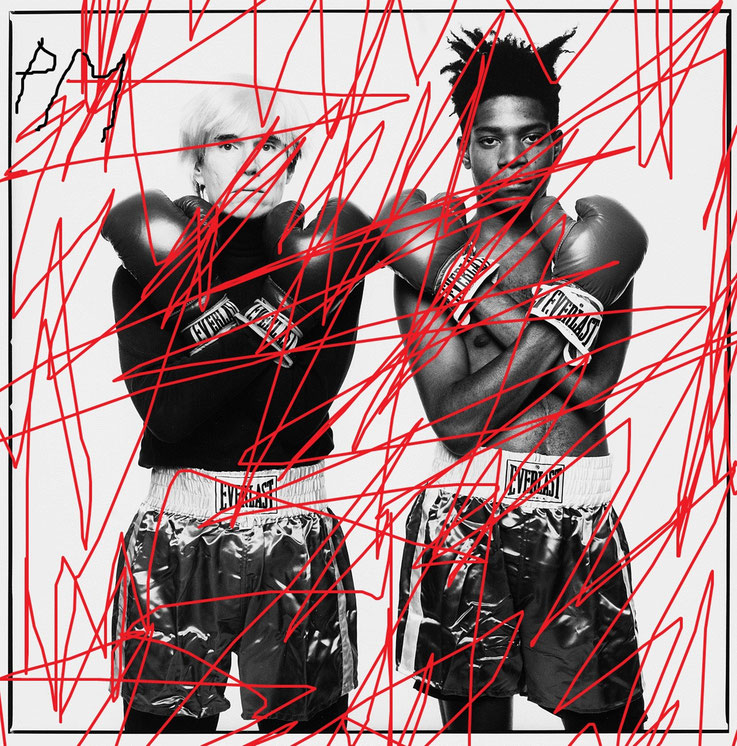 Pedro Meier DigitalArt – Andy Warhol & Jean-Michel Basquiat – Paraphrase – overpainted 2017 Artwork by © Pedro Meier Multimedia Artist MoMA – Visual Art Museum Bangkok – FLUXUS – DADA – ComputerArt – SIKART Zürich – Niederbipp Bern, Solothurn Switzerland