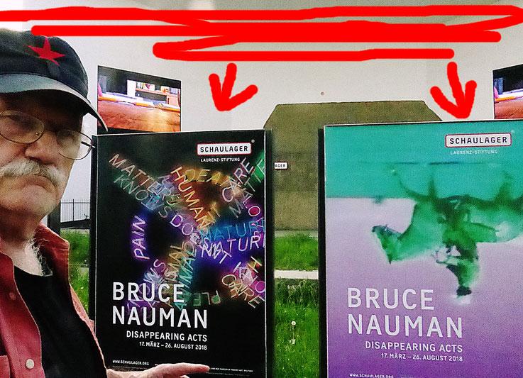 Pedro Meier – Bruce Nauman – Schaulager Museum Basel Münchenstein – Laurenz-Stiftung – Selfie-Art-Project 2018 © Pedro Meier Multimedia Artist Museum Visual Art MoMA – FLUXUS – DADA – DigitalArt – MailArt – Artists' Books – SelfieArt – SIKART Zürich