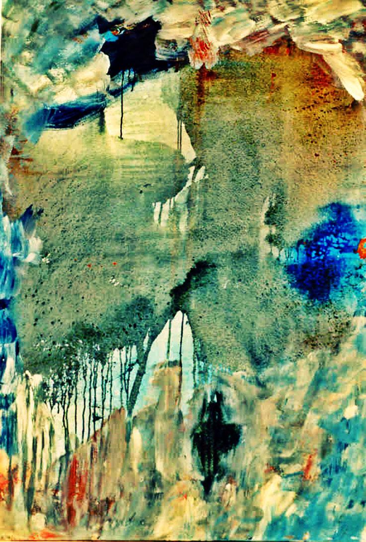 Pedro Meier – »Insel Rügen Nr. 2« – Öl Lack auf Leinwand, 200 x150 cm 1995 – Gruppenausstellung »Art Vent« (plus 2 »Schnür-Skulpturen) 2017 Franz Eggenschwiler Stiftung – Pedro Meier Multimedia Artist Gerhard Meier Weg Atelier: Niederbipp, Olten, Bangkok