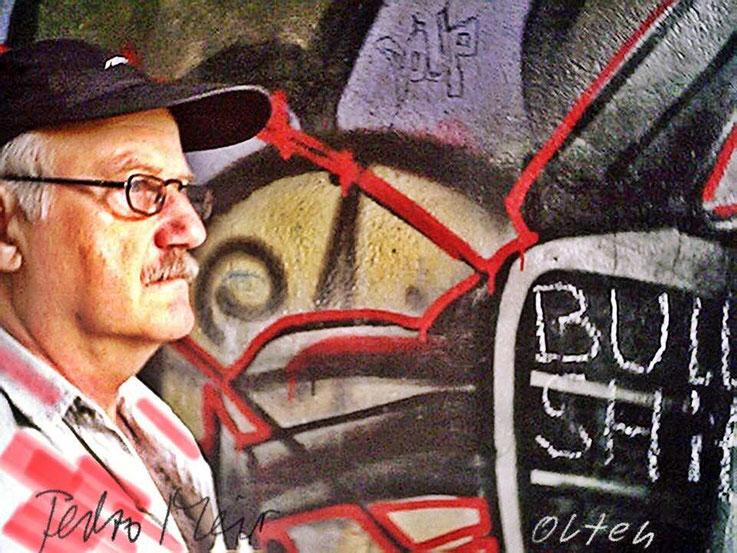 Pedro Meier – Bahnhof Olten Aareweg Graffiti – PhotoArt by © Pedro Meier Multimedia Artist – »Selfie-Art-Project« 2003 – Atelier Gerhard Meier-Weg Niederbipp und Bangkok Thailand – Kunsthalle Olten Offspace DADA FLUXUS MailArt DigitalArt VISARTE SIKART ZH