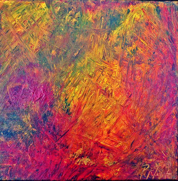 Pedro Meier – Eine Serie von 9 neuen Arbeiten – Nr. 3 – Öl /Acryl auf Leinwand – 50x50 cm – 2017 – Atelier Pedro Meier Gerhard Meier Weg Niederbipp – Photo © Pedro Meier / ProLitteris Multimedia Artist