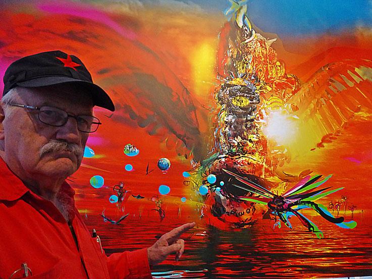 Pedro Meier – John Russell, DOGGO, Kunsthalle Zürich – »Selfie-Art-Project« 2017 Photo © Pedro Meier Multimedia Artist ProLitteris Gerhard Meier Weg Niederbipp (Atelier: Olten Museum Kunsthaus Visarte Kunsthalle Pop-Art Switzerland Berlin  – Bangkok)