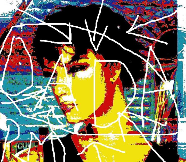 Pedro Meier DigitalArt – DADA ART Portrait – overpainted – 2017 Artwork by © Pedro Meier Multimedia Artist MoMA – Visual Art Museum Bangkok – FLUXUS – DADA – ComputerArt – SIKART Zürich – Atelier: Niederbipp Bern, bei Solothurn – Oberaargau – Switzerland