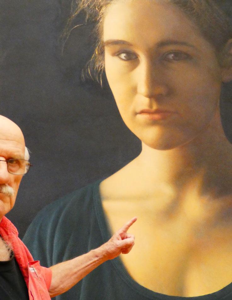 Pedro Meier »Selfie-Art-Project«  – »Pedro Meier grüsst Franz Gertsch – Kunsthaus Zürich« – Foto 2015 © Pedro Meier Multimedia Artist / ProLitteris – Niederbipp – Bangkok
