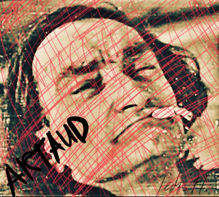 Pedro Meier – Antonin Artaud – Paraphrase zu Porträt mit Zigarette – Art Work by © Pedro Meier Swiss-German Multimedia Artist Visual Art Museum MoMA – FLUXUS – DADA – DigitalArt – ComputerArt – MailArt – Artists' Books – SelfieArt – SIKART Zürich, EUROPE