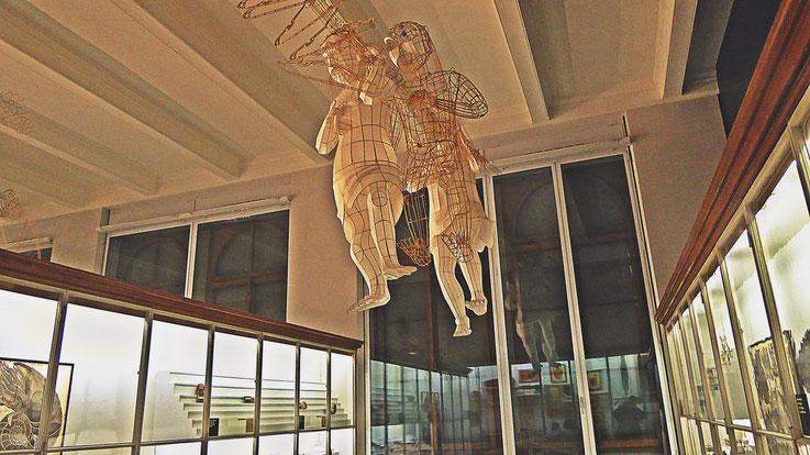 Pedro Meier – Ai Weiwei: »Caochangdi«, bamboo and silk – »D'ailleurs c'est toujours les autres«, Musée cantonal des Beaux-Arts, Lausanne – (Uli Sigg – Bernard Fibicher), Photo: Pedro Meier Multimedia Art 2017, Gerhard Meier Weg Atelier: Niederbipp Bangkok