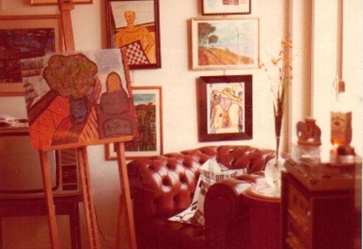 Pedro Meier – Nostalgia – erstes Atelier 1979 Zürich – Hohen Promenade, Wettingerwies (neben der Wohnung von Ernst Scheidegger Fotograf, Maler und Verleger, Film über Alberto Giacometti) – Foto © Pedro Meier / ProLitteris – Multimedia Artist Niederbipp