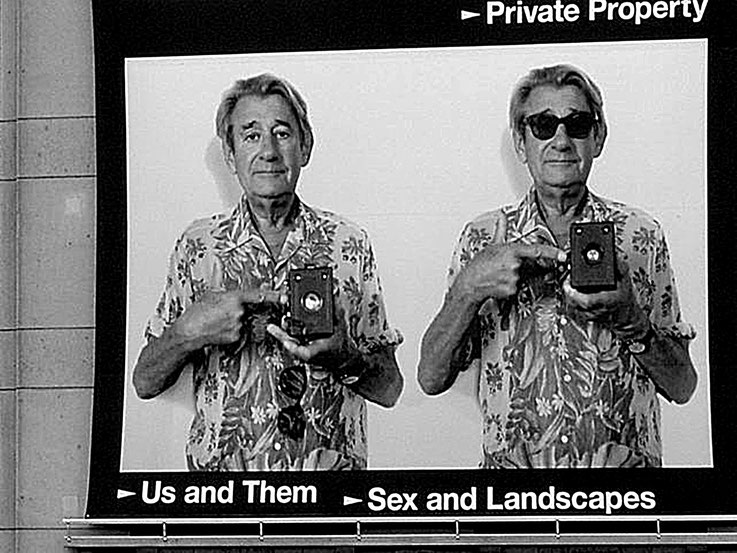 Pedro Meier PhotoArt – Us and Them – Sex and Landscapes – Private Property – Plakat 2004 Helmut Newton Ausstellung Museum für Fotografie – U-Bahn Berlin– Photo © Pedro Meier Multimedia Artist -ProLitteris – Gerhard Meier Weg – Niederbipp – Olten – Bangkok