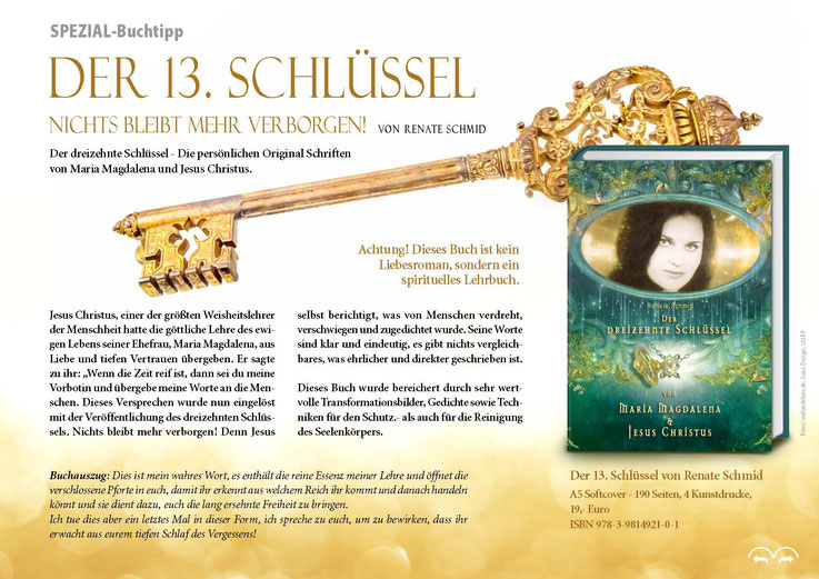 Jesus Christus - Die Buchbeschreibung vom 13. Schlüssel von Maria Magdalena und Jesus.