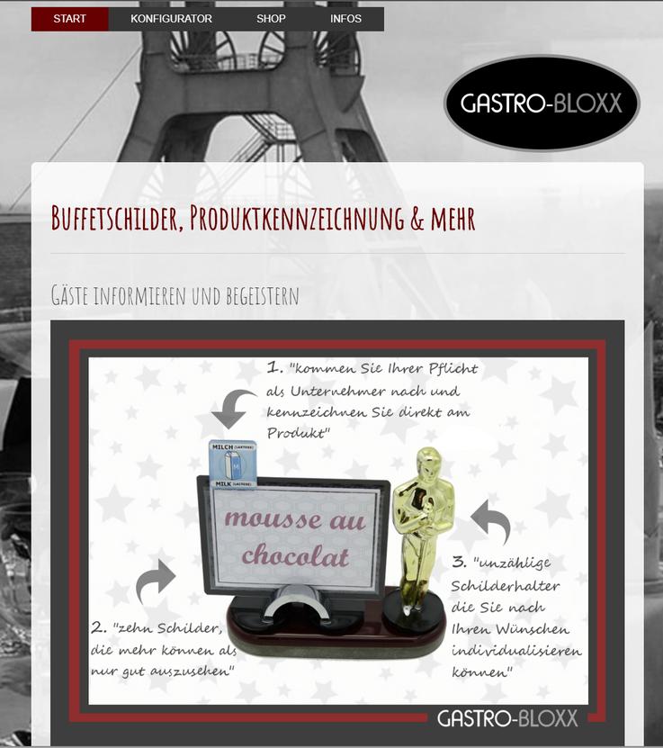 Webseite gastro-bloxx