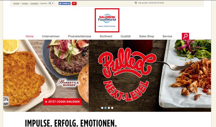 Salomon Foodworld Homepage