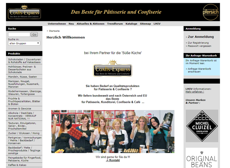 Confis Express Homepage