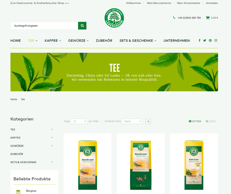 Homepage Lebensbaum