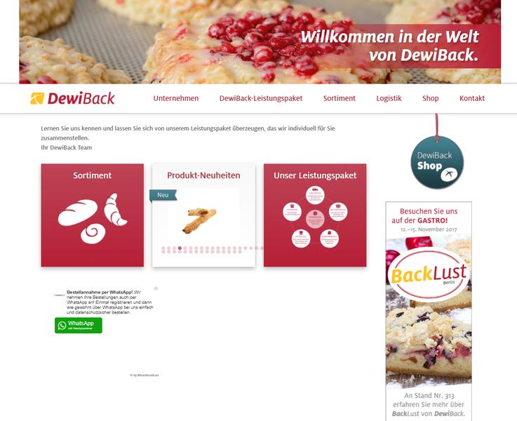 Dewiback Homepage