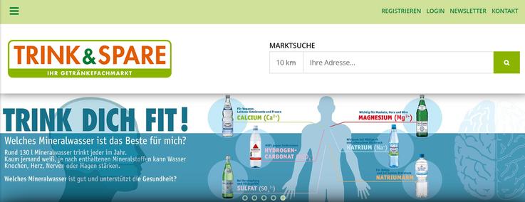 Homepage Trink und spare