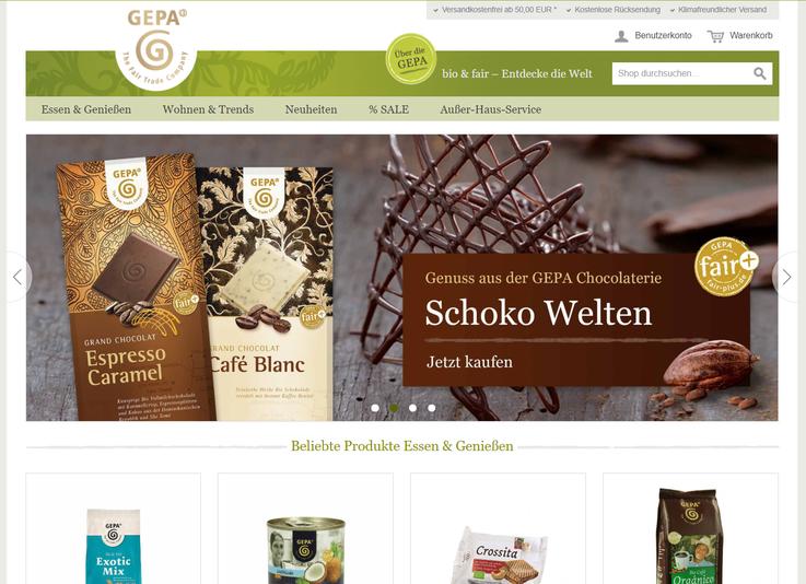 Homepage Gepa