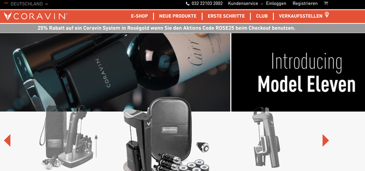 Homepage Coravin