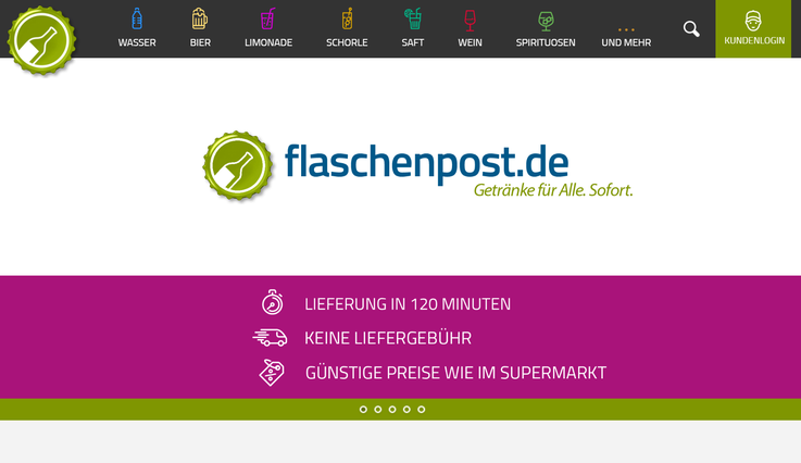 Homepage Flaschenpost