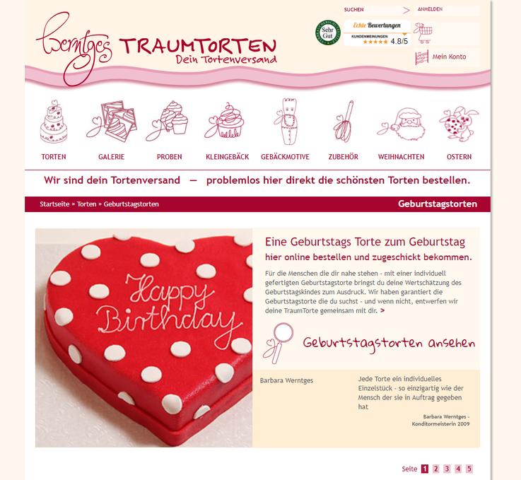 Werntges Traumtorten Homepage