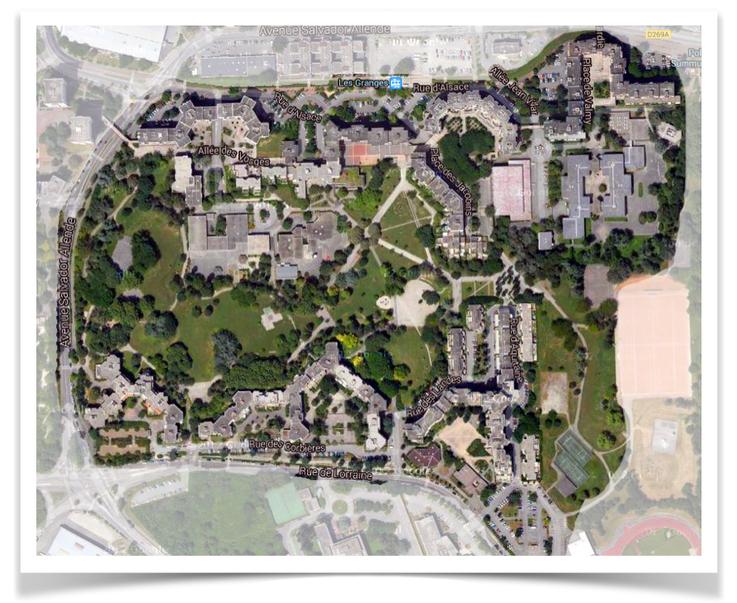 Plan du quartier des Granges
