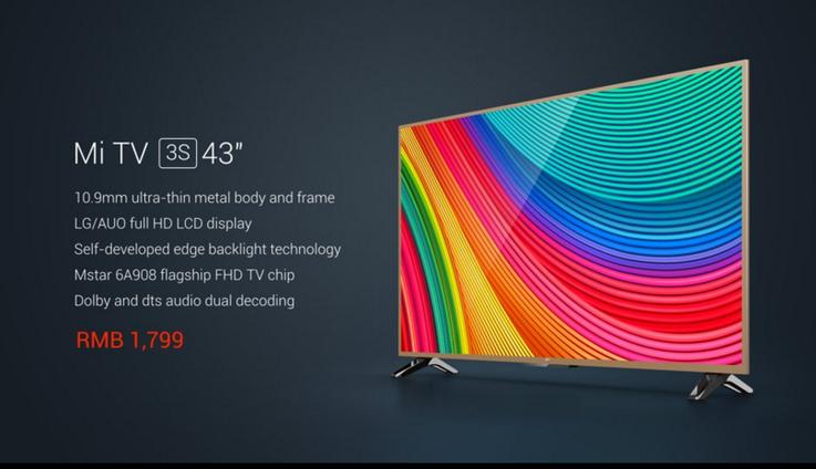 Xiaomi Mi TV 3S 43″