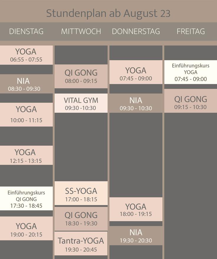 regulaMOVE Stundenplan in Liestal
