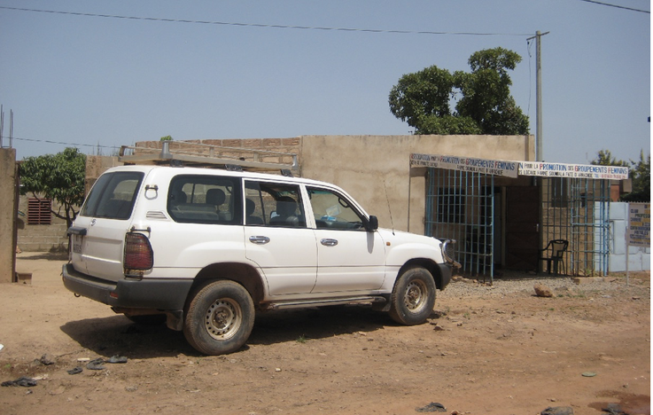 Car to pick up fistula women in different villages (Photo: A. Rüegg)