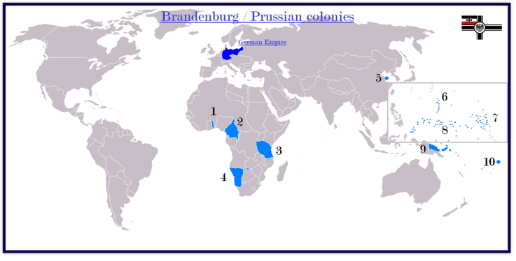 revised map: German colonies (1884 - 1919) and trade