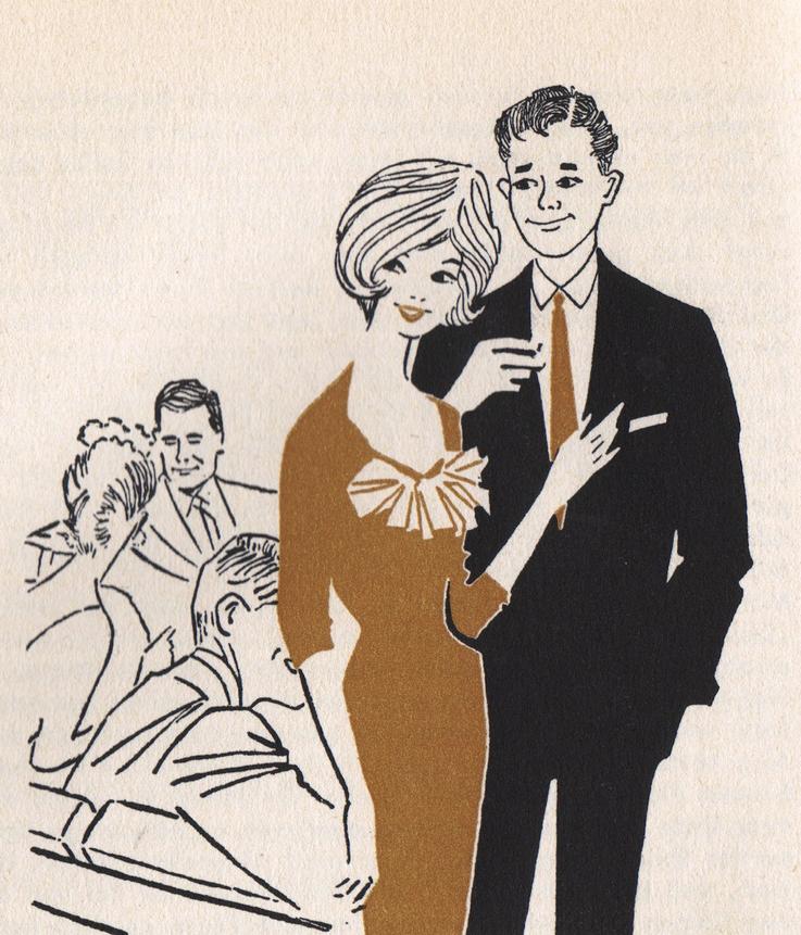 Heinz Traimer (Illustration für ein Benimm-Ratgeber aus dem Jahr 1965)