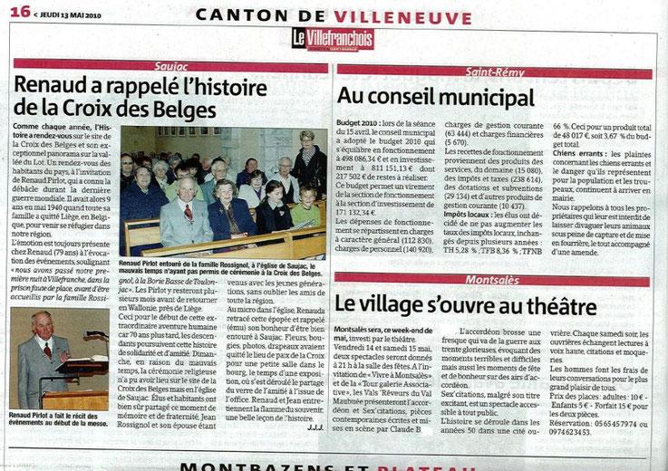Le Villefranchois (jeudi 13 mai 2010)