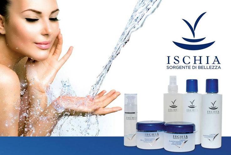 cosmetici per il corpo all'acqua termale di Ischia, Ischia sorgente di bellezza