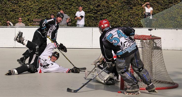 Knapp vorbei: Die Royals erwischten gegen Mannheim keinen Sahnetag. Foto: Stefan Swoboda