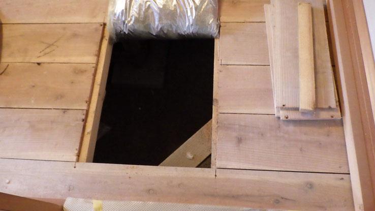 和室に作った床下点検口