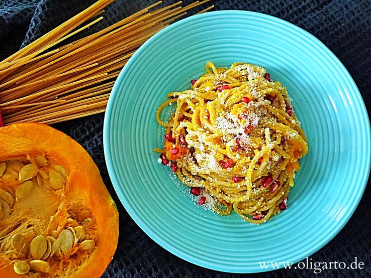 Kochen Gesund Oligarto Blogzine Rezepte Spaghetti mit Kürbiss