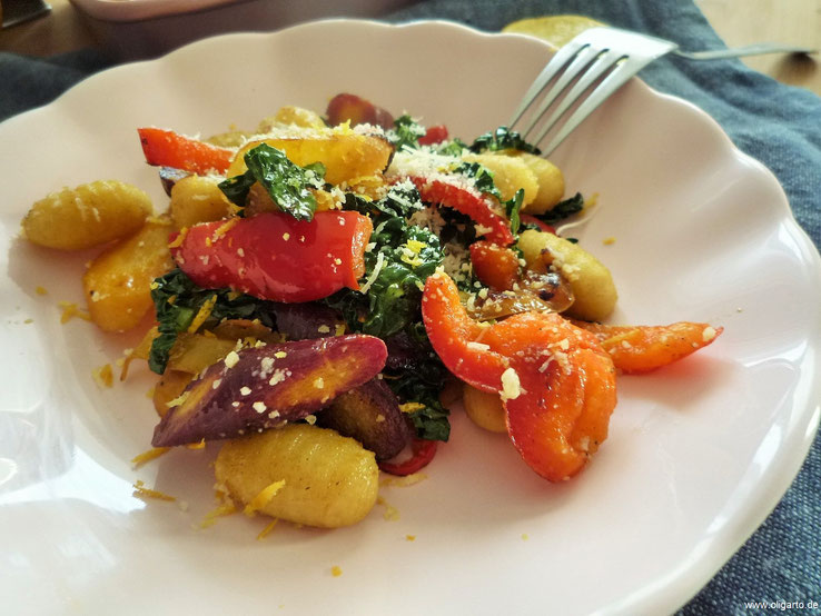 Gnocchi Gemüse Bergamotte Oligarto Blogzine