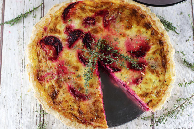 Beetroot Quiche and Thyme Recipe Oligarto Blogzine