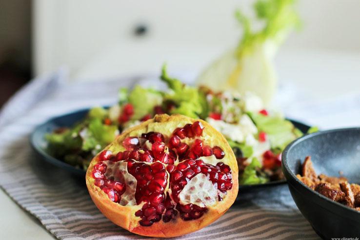 Wintersalat mit Granatapfel Rezepte Oligarto Blogzine