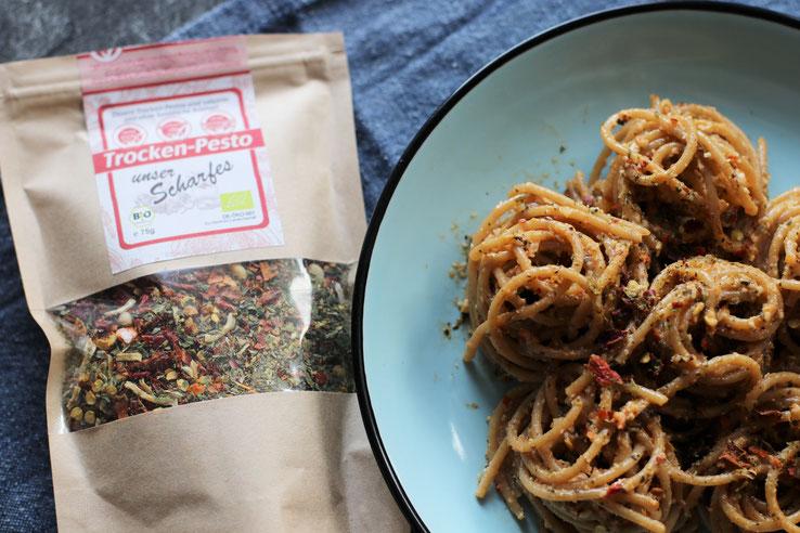 Vollkornspaghetti mit Trocken Pesto Oligarto Rezepte