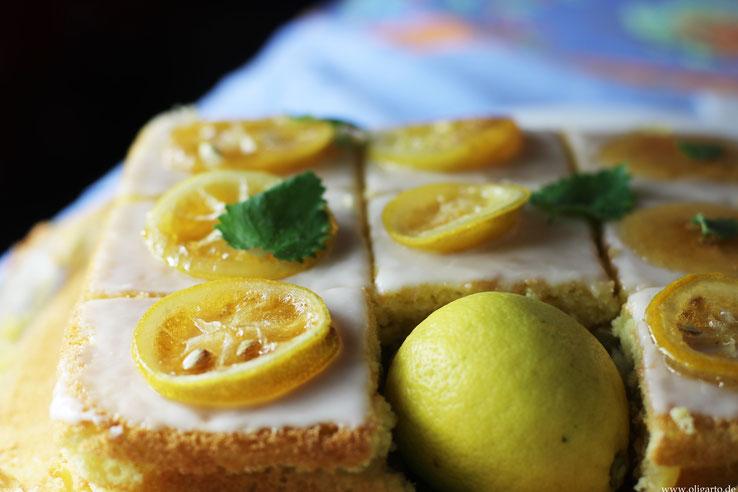 Saftiger Zitronenkuchen mit einer Creme Oligarto Rezepte Blogzine
