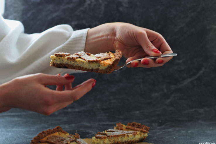 Baken Kuchen Quark MOhn OLivenöl Oligarto