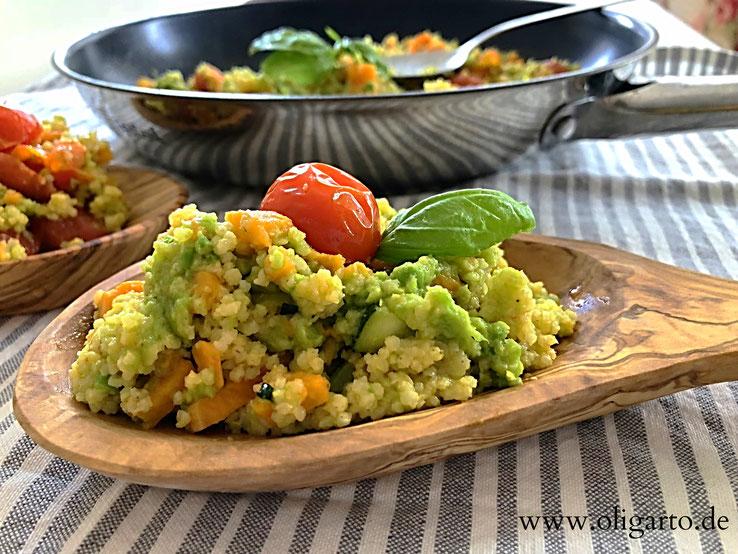 Hirse mit Avokado und Süßkartoffel Rezepte Oligarto Blogzine Glutenfree